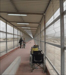 The walk across no man's land between Israel & Gaza