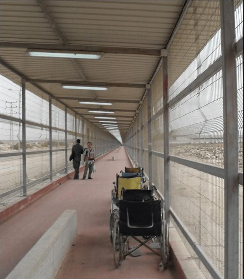 The walk across no man's land between Israel & Gaza